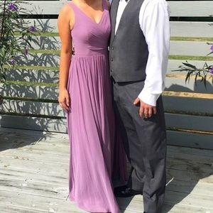 Purple bridesmaids dress